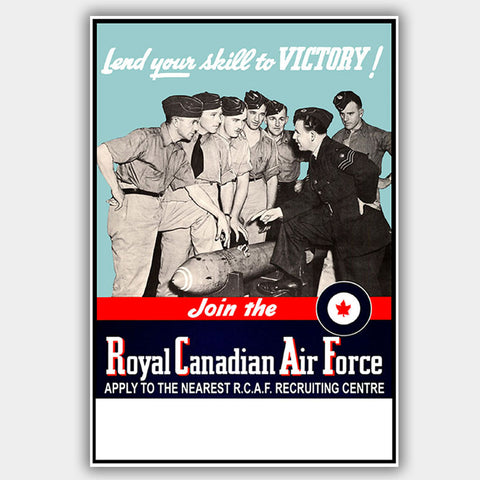 "War Poster - RCAF - ""Victory"" - 13 x 19 inches"