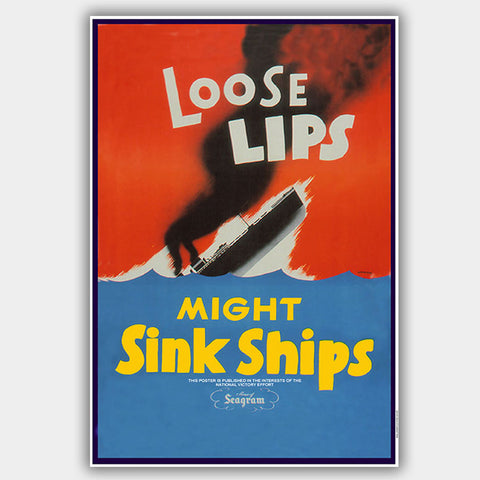 Loose Lips - War Poster - 13 x 19 inches