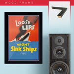 War Poster - Loose Lips - 13 x 19 inches