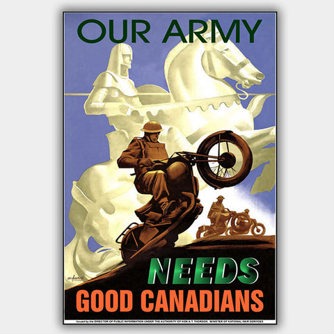 Our Army - War Poster - 13 x 19 inches