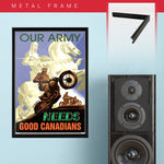 War Poster - Our Army - 13 x 19 inches