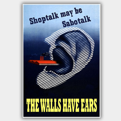 War Poster - Sabotalk - 13 x 19 inches