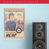 "War Poster - RCAF - ""She Serves"" - 13 x 19 inches"