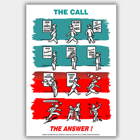 Call & Answer - War Poster - 13 x 19 inches