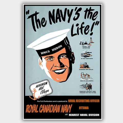 War Poster - Navy Life - 13 x 19 inches