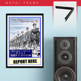 "War Poster - RCAF - ""Report Here"" - 13 x 19 inches"