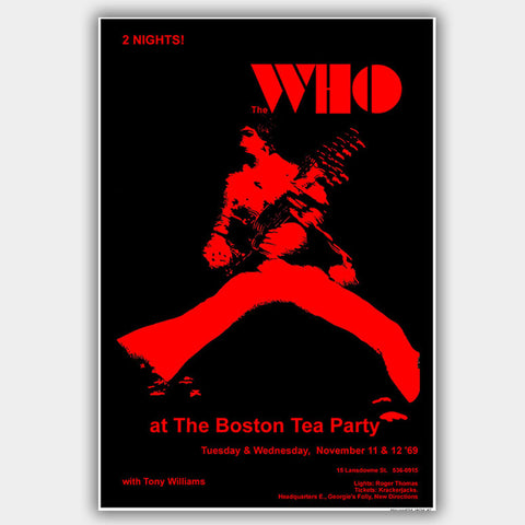 Who with Tony Williams (1969) - Concert Poster - 13 x 19 inches