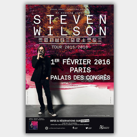 Steven Wilson (2016) - Concert Poster - 13 x 19 inches