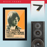 Neil Young (1970) - Concert Poster - 13 x 19 inches