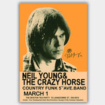 Neil    Signature Young (1970) - Concert Poster - 13 x 19 inches