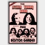 Neil / S. Stills Young with Poco (1976) - Concert Poster - 13 x 19 inches