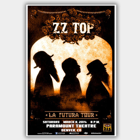 ZZ Top (2014) - Concert Poster - 13 x 19 inches