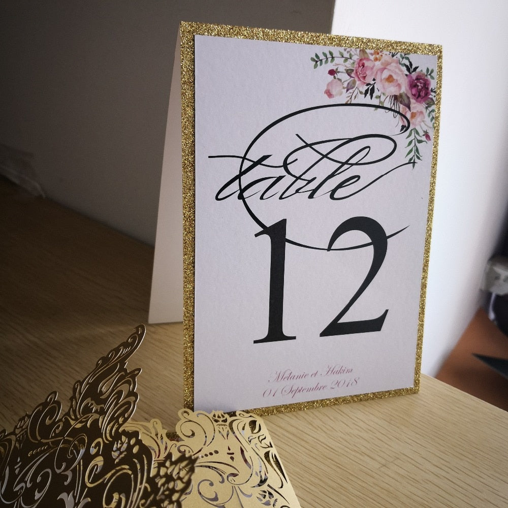 Personalized Floral Table Numbers
