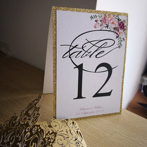 Open image in slideshow, Personalized Floral Table Numbers