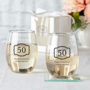 Open image in slideshow, Personalized Stemless Wine Glass