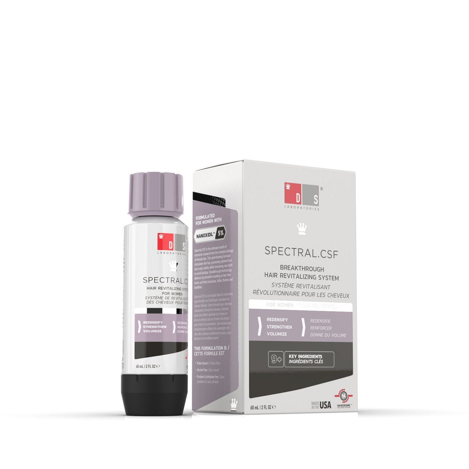 Spectral.CSF | Breakthrough Hair Revitilizing System for Women with Nanoxidil 5%