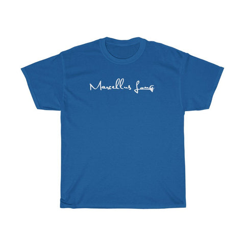 Marcellus Long Merch: Blue T-Shirt