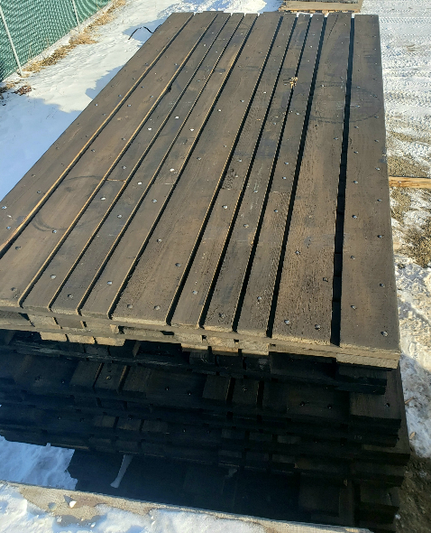 One stack of 3 Ply Wooden Access Mats