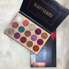 Load image into Gallery viewer, BEAUTY GLAZED 15 ULTRA PIGMENTED GLITTER EYESHADOW PALETTE