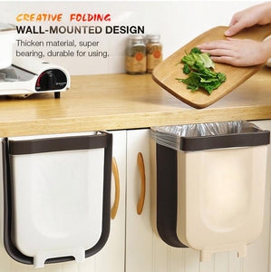 Wall Mounted Folding Waste Bin
