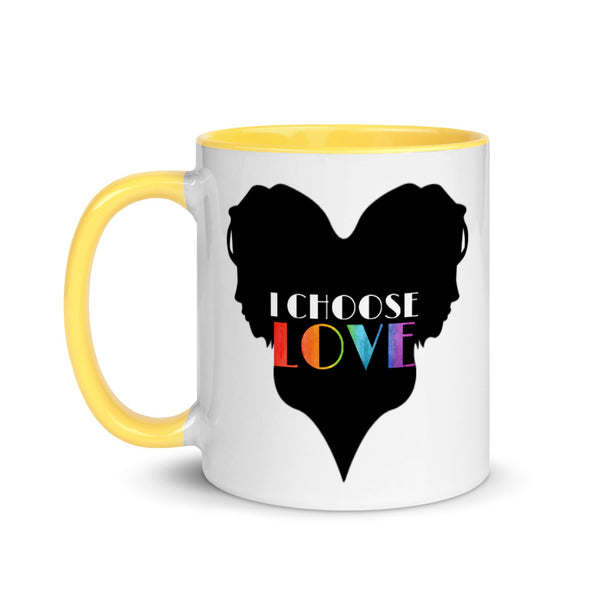 Feminine I Choose Love Mug with Color Inside