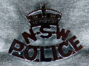 NSW Queens Crown Police Cap Badge