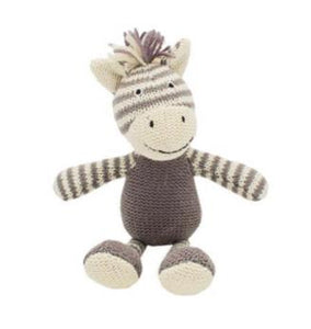 Walton & Co Knitted Zebra Rattle