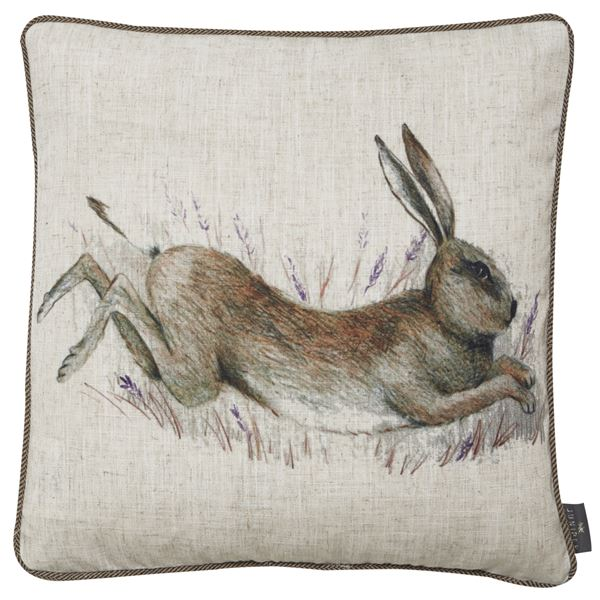 Heino Jumping Hare Feather Filled Cushion