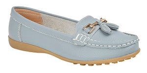 Boulevard Baby Blue Leather Loafer