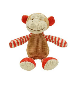 Walton & Co Knitted Monkey Rattle