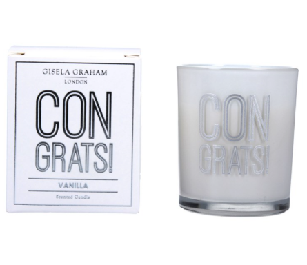Gisela Graham 'CONGRATS' Scented Candle