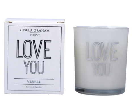 Gisela Graham 'LOVE YOU' Scented Candle