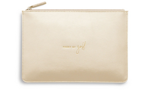 Katie Loxton Perfect Pouch 'HEART OF GOLD'