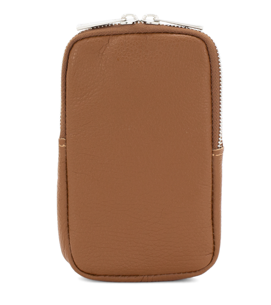 Leather Phone Pouch Crossbody Bag