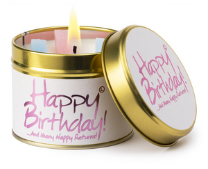 Lily Flame 'Happy birthday!...and many happy returns' Candle