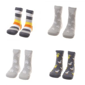 Ziggle 'Stylish Greys' sock set