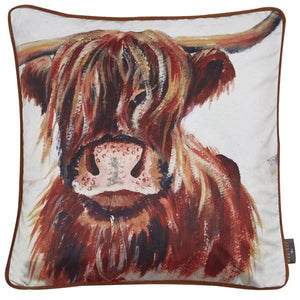 Bessie Highland Cow Feather Filled Cushion