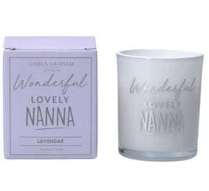 Gisela Graham 'LOVELY NANNA' Scented Candle