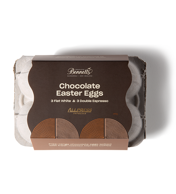 Allpress Chocolate Easter Eggs by Bennetts of Mangawhai