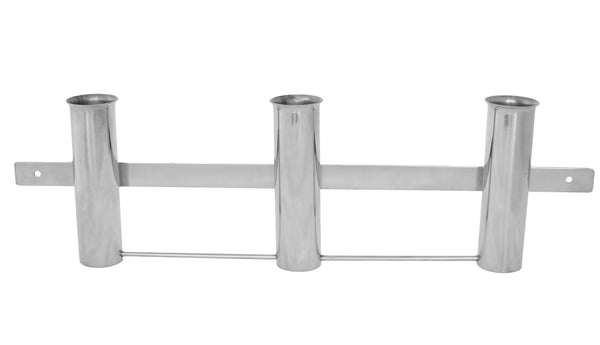 Rod Holder Rack with 3 holders, stainless steel