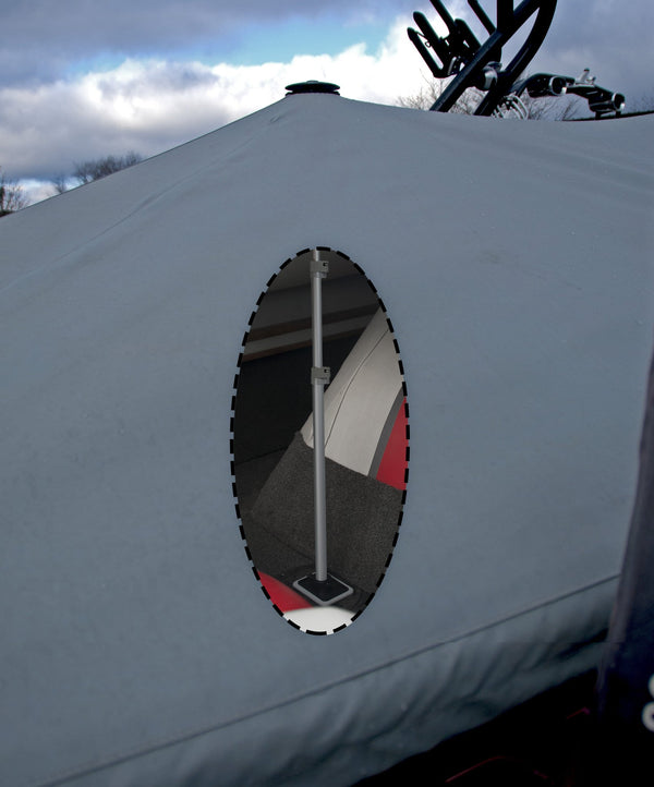 Boat Vent 3 with Support Pole and Swivel Base - A  Must for any Boat Cover - Rockboat Marine