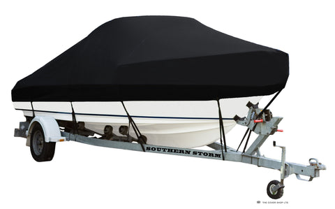Boat Covers, Cabin with Bow Rails - Black or Navy Blue