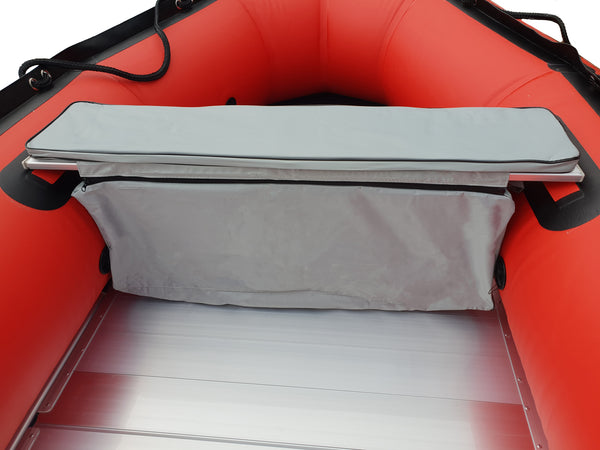 Inflatable boat storage bag with cushion