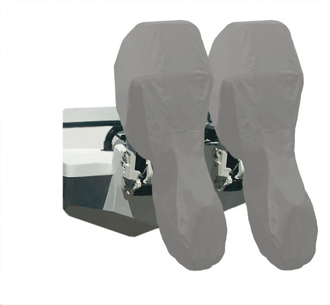 Outboard Motor Covers Grey - Full - Rockboat Marine