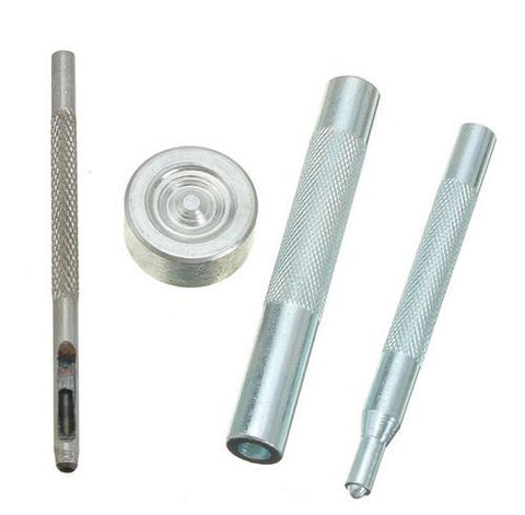 Snap Fastener Kit - 5 complete fasteners and tools