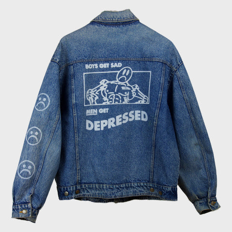 """DePrEsSeD"" custom džinsa jaka"
