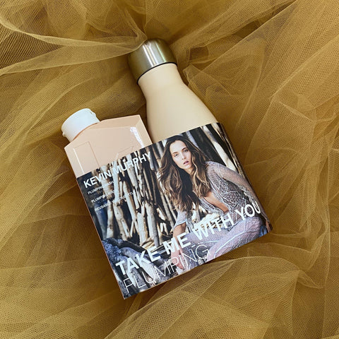 Kevin Murphy produktu komplekts Take Me With You Plumping. Komplektā ietilpst: Plumping Wash,  Plumping Rinse, Water Bottle