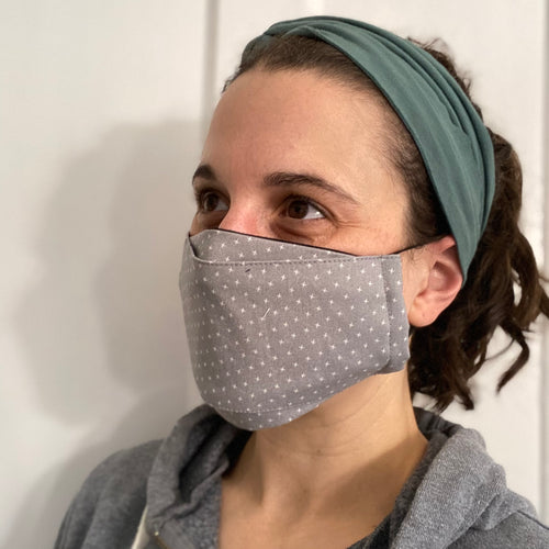 Grey Cross 3D face mask