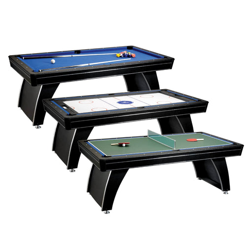 Fat Cat® Phoenix 3-in-1 7' Billiard Pool Table 64-0145 Multi-Game Table
