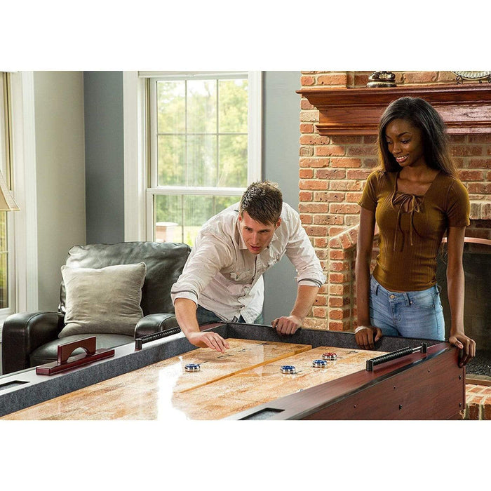 Ricochet Shuffleboard Table, Cherry Finish shuffleboard